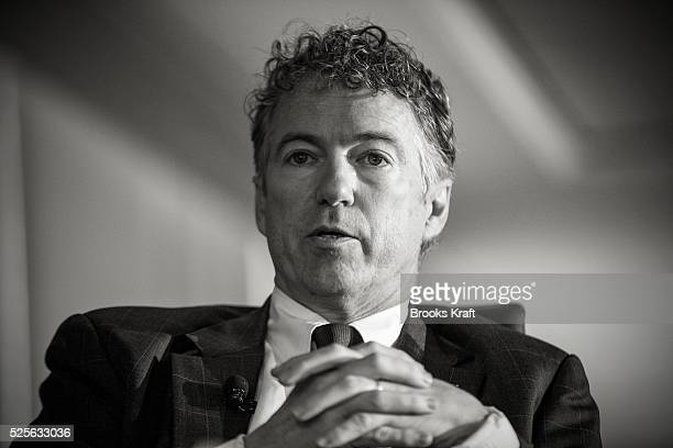 Republican Kentucky Senator Rand Paul addresses the Wall Street Journal CEO Council in Washington