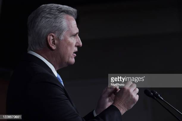 Republican Leader Kevin McCarthy holds a weekly press conference, today on September 17, 2020 at US Capitol Hill in Washington DC, USA.