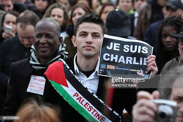 Republican march in Paris January 11 2015 following the attacks against Charlie Hebdo and the kosher store in Paris 2 million people marched...