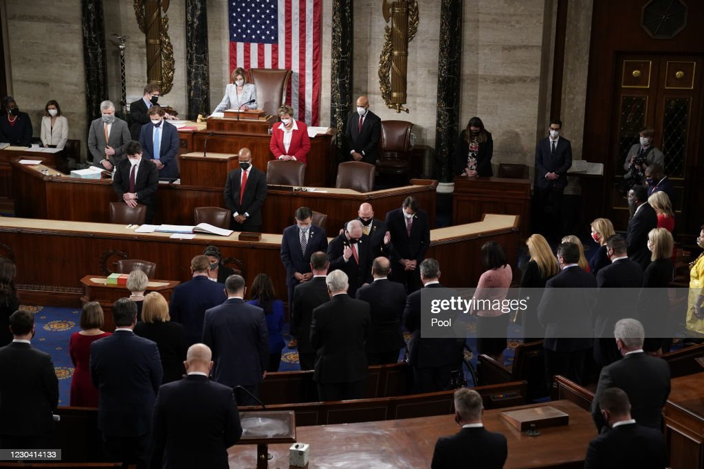 Swearing In Held For U.S. Senators To Start The 117th Congress : News Photo