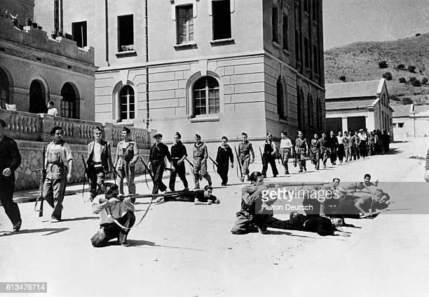 Republican militiamen in training during the Spanish Civil War