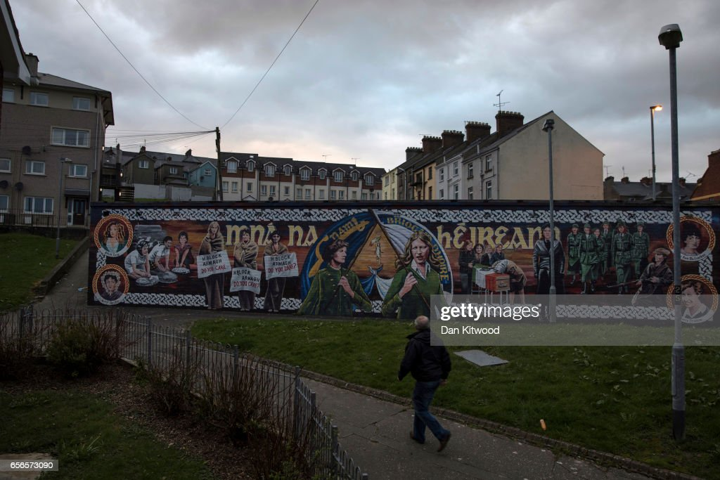 A republican mural close to the home of the late Martin McGuinness on March 22, 2017 in Belfast, Northern Ireland. Northern Ireland's Former Deputy First Minister Martin McGuinness died overnight on Monday 20th March 2017. He was once chief of staff of the IRA and became Sinn Fein's chief negotiator in the talks that led to the Good Friday agreement bringing peace to Northern Ireland.