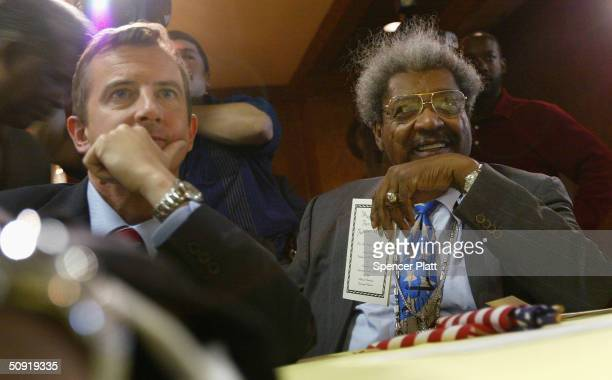 Republican National Committee Chairman Ed Gillespie and boxing promoter Don King attend a news conference where they spoke about US President George...