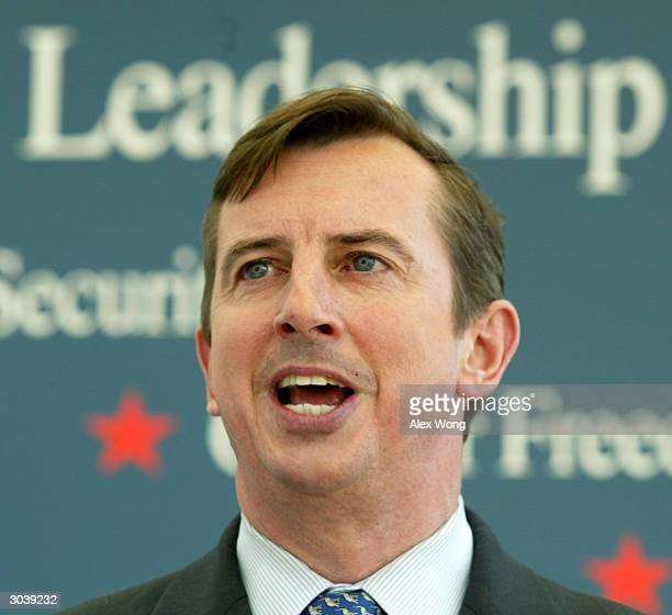 Republican National Committee Chairman Ed Gillespie speaks during a news conference March 3 2004 in Washington DC Gillespie kicked off the National...