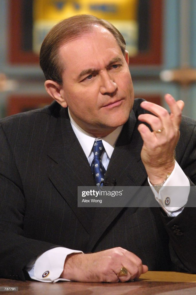 Republican National Committee Chairman Gov. Jim Gilmore speaks during the taping of ''Meet the Press'' at the NBC studio February 4, 2001 in Washington, D. C.