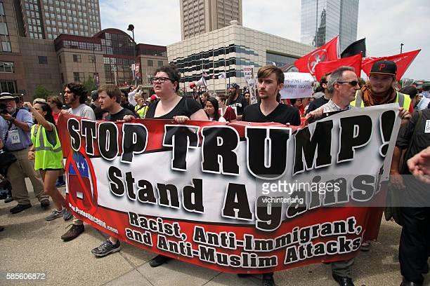 共和党全国大会,2016年7月18日 - イスラム嫌悪 ストックフォトと画像