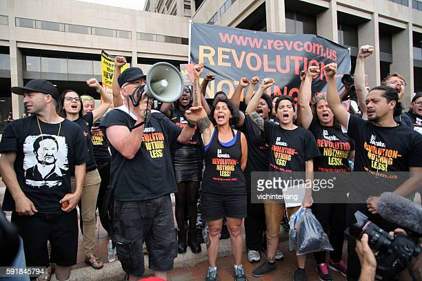 republican national convention, july 21, 2016 - communism stock pictures, royalty-free photos & images