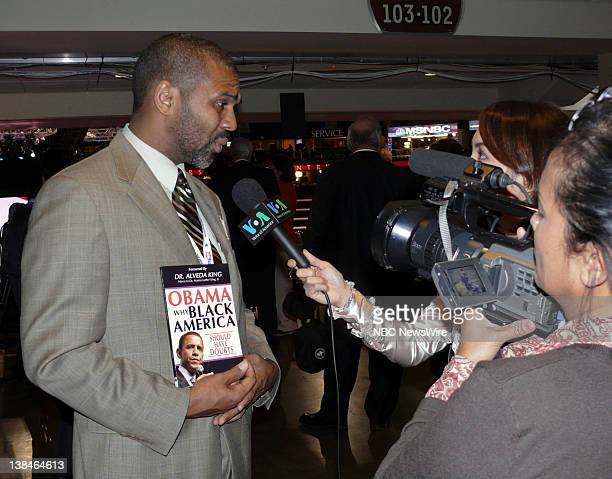NBC NEWS Republican National Convention Pictured Author William Owens Jr holds his book Obama Why Black America Should Have Doubts while being...
