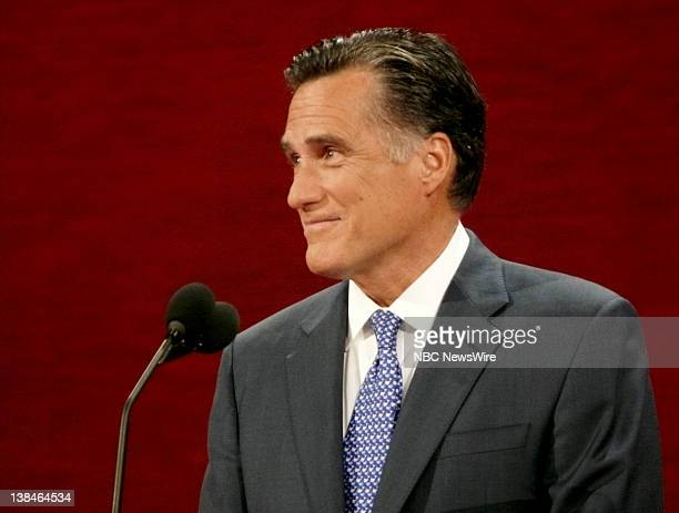 Republican National Convention -- Pictured: Governor of MA Mitt Romney on stage -- Presidential candidate John McCain, vice-presidential candidate...