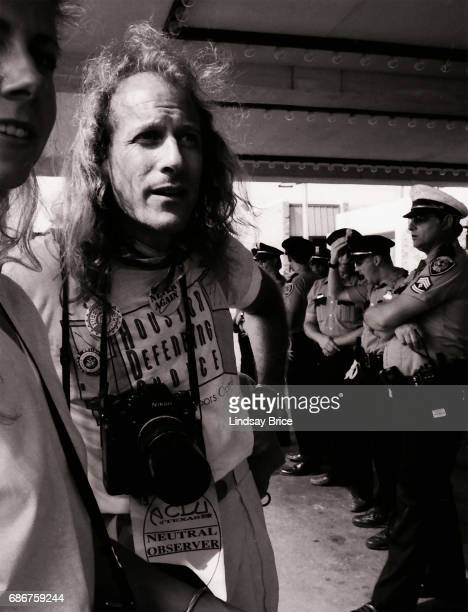 1992 Republican National Convention Protests ACLU Neutral Observer and police watch protests against the Republican Party the American government's...