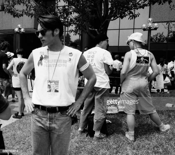 1992 Republican National Convention Protests Queer Nation and ACT UP activists protest the Republican Party the American government's negligence in...
