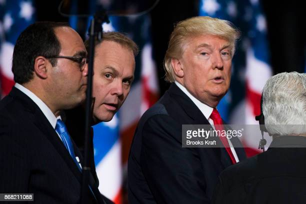 Republican nominee Donald Trump with Rick Gates at the Republican Convention July 21 2016 at the Quicken Loans Arena in Cleveland Ohio
