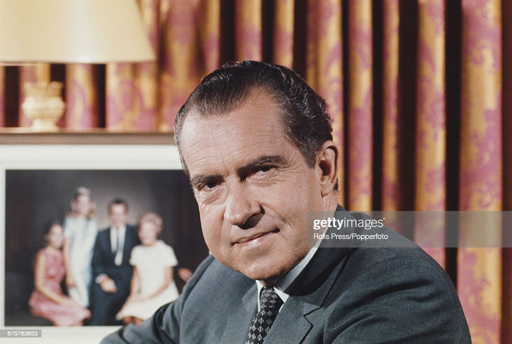 Richard Nixon Prepares For Office : News Photo