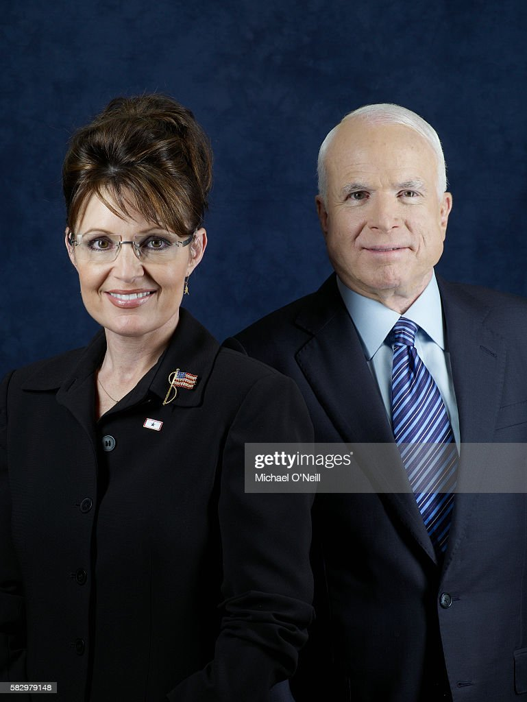 Sarah Palin and John McCain : News Photo