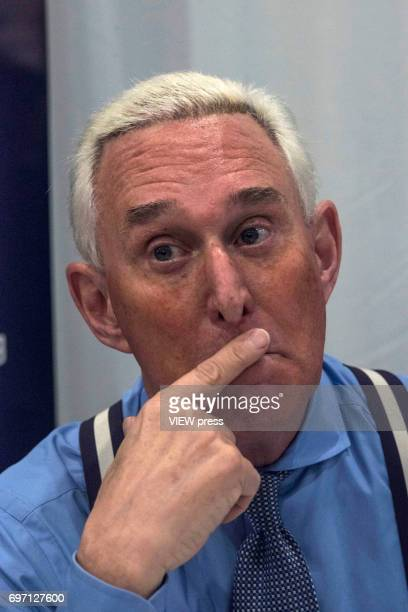 Republican operative Roger Stone addresses the Cannabis World Congress and Business Exposition trade show on June 16, 2017 in New York City. As a...