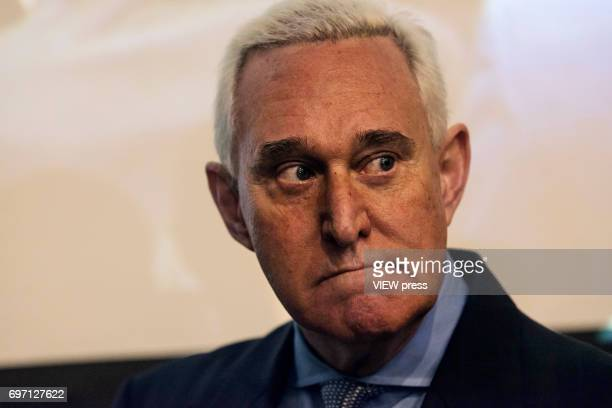 Republican operative Roger Stone addresses the Cannabis World Congress and Business Exposition trade show on June 16 2017 in New York City As a...