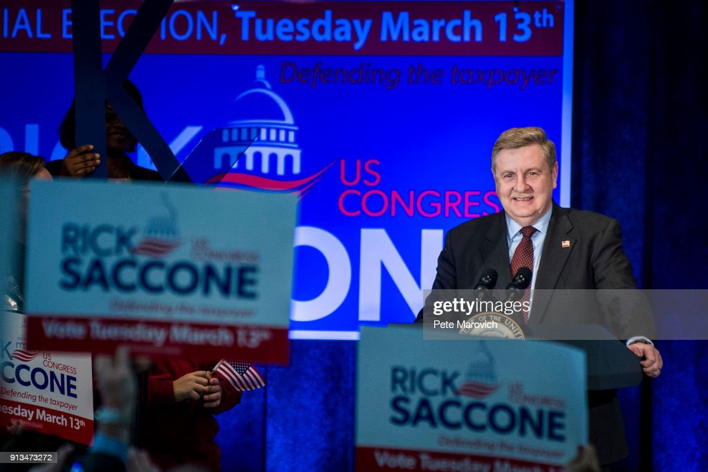 Vice President Pence Campaigns With PA Congressional Candidate Rick Saccone : News Photo