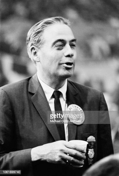 Republican politician William Scranton addresses the Republican National Convention in Cow Palace Daly City California in support of presidential...