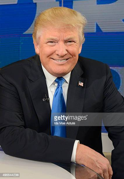 AMERICA Republican presidential candidate and author of Crippled America Donald Trump visits GOOD MORNING AMERICA 11/3/15 airing on the ABC...