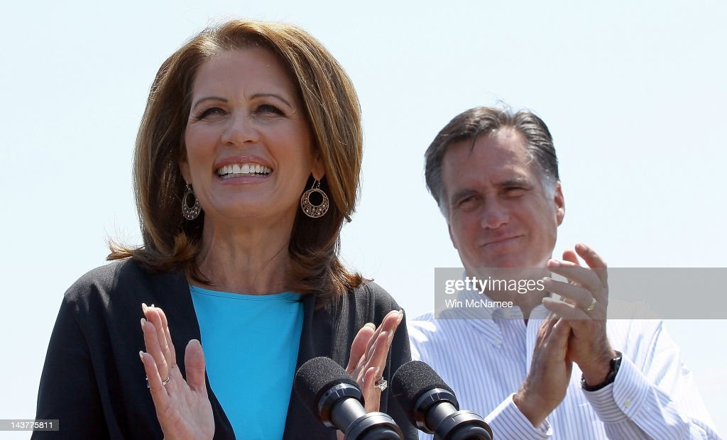Romney Receives Michelle Bachmann Endorsement At VA Campaign Event