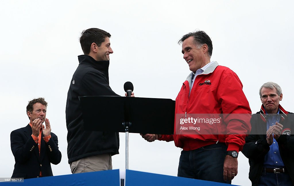 Romney And Ryan Hold Victory Rally In Ohio