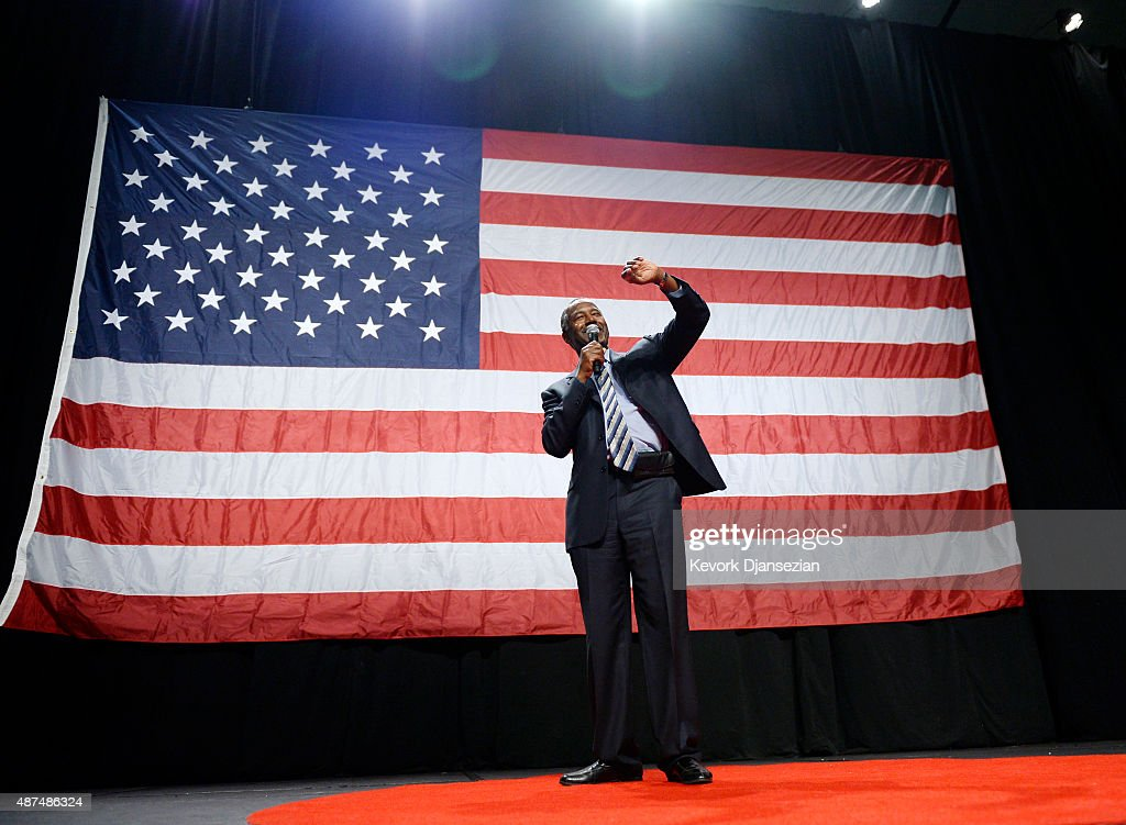 Ben Carson Holds Campaign Rally In Anaheim : News Photo