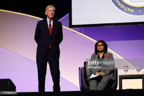Republican presidential candidate Bill Weld a former Governor of Massachusetts is interviewed by moderator and White House correspondent April Ryan...
