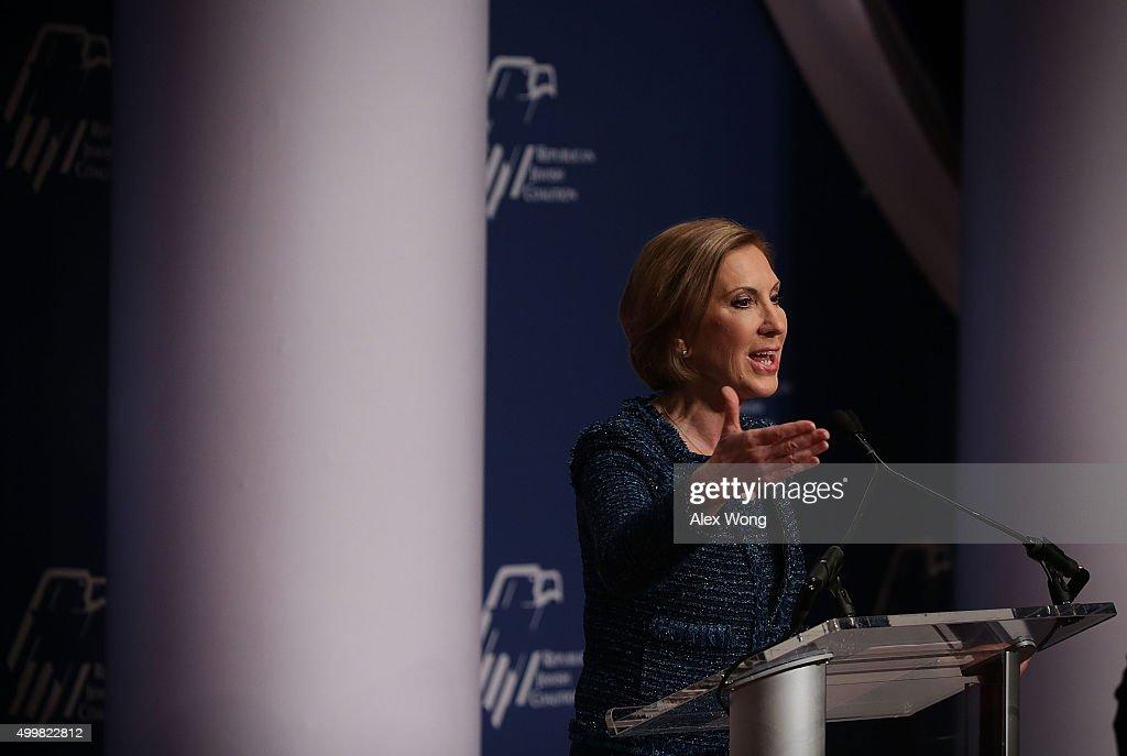 GOP Presidential Hopefuls Address Republican Jewish Coalition Candidates Forum : News Photo