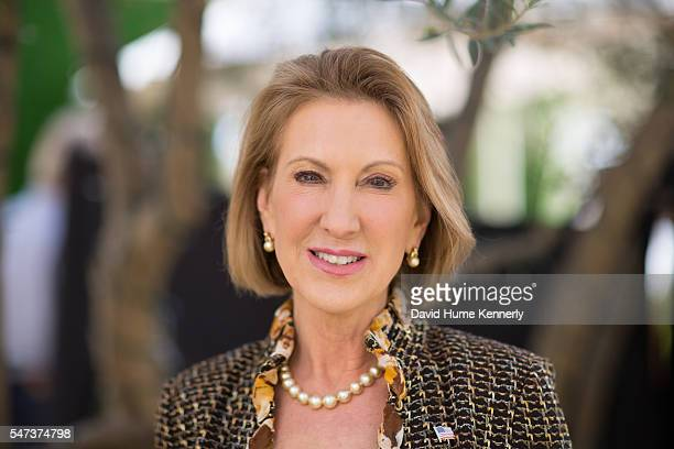 Republican presidential candidate Carly Fiorina at the Freedom Partners Chamber of Commerce a freemarket advocacy nonprofit funded by billionaire...
