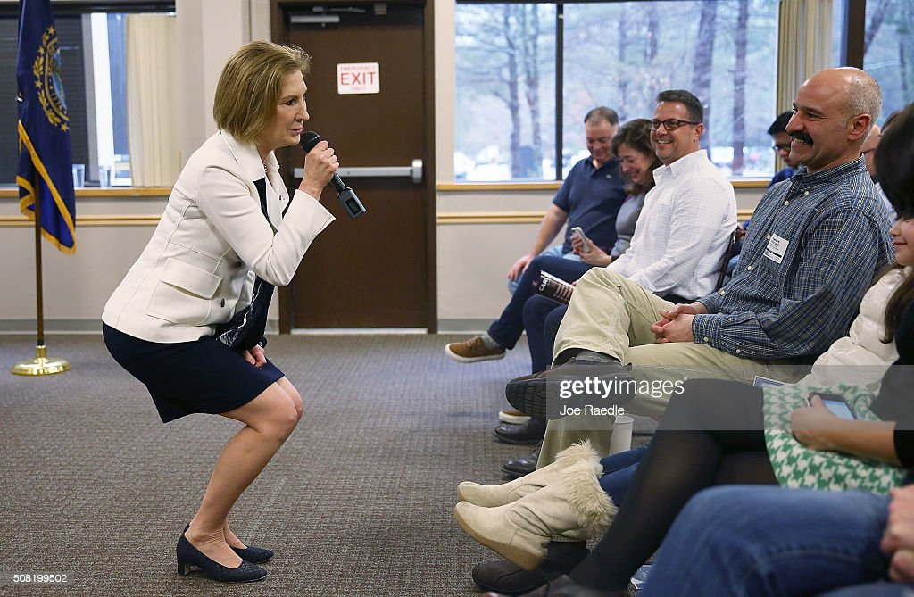 GOP Presidential Candidate Carly Fiorina Campaigns In New Hampshire