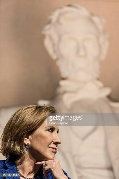 Republican presidential candidate Carly Fiorina speaks to voters at a town hall meeting October 2 2015 in Aiken South Carolina The former CEO of...