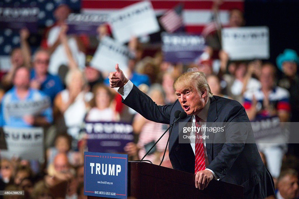 Donald Trump Gives Address On Immigration In Phoenix : News Photo