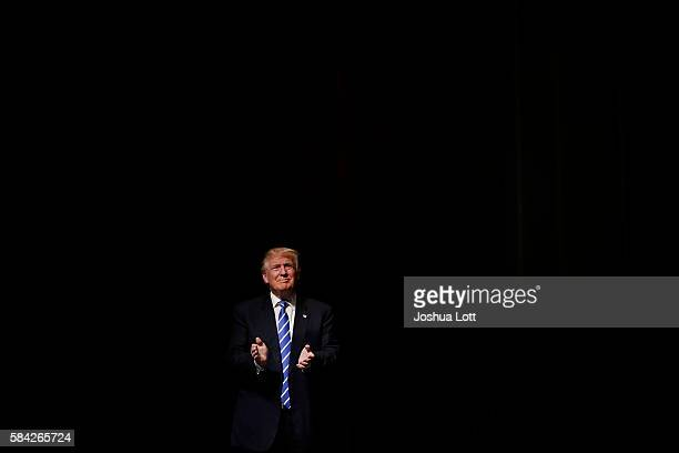 Republican Presidential candidate Donald Trump arrives to his campaign event on July 28 2016 in Davenport Iowa Trump who received the GOP...