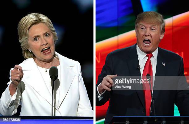 In this composite image a comparison has been made between US Presidential Candidates Hillary Clinton and Donald Trump The November 8 2016 election...