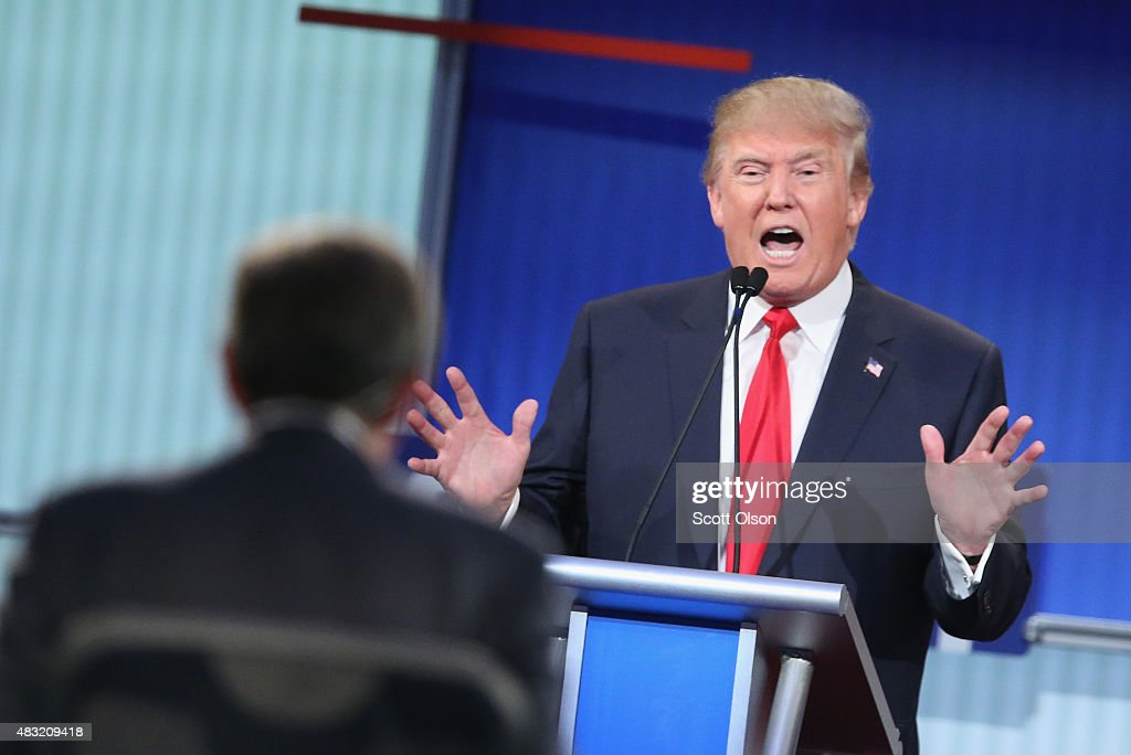 Top-Polling GOP Candidates Participate In First Republican Presidential Debate : News Photo