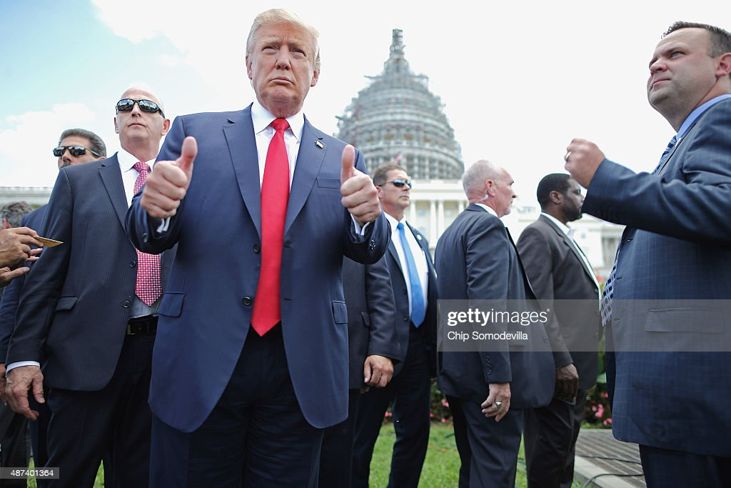 Donald Trump And Ted Cruz Join Capitol Hill Rally Against Iran Deal : Nieuwsfoto's