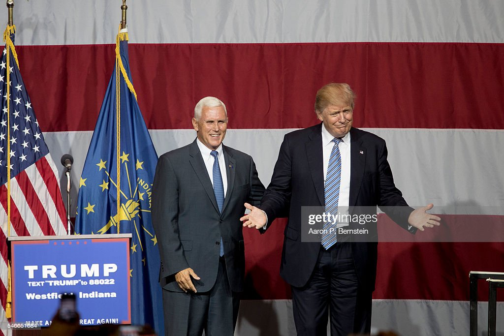 Donald Trump Holds Campaign Rally In Indiana : News Photo