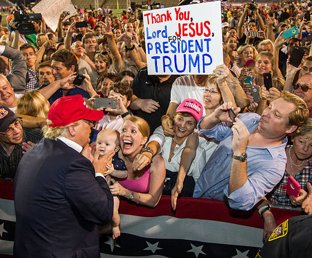Donald Trump Holds Campaign Rally In Mobile, Alabama Wall Art
