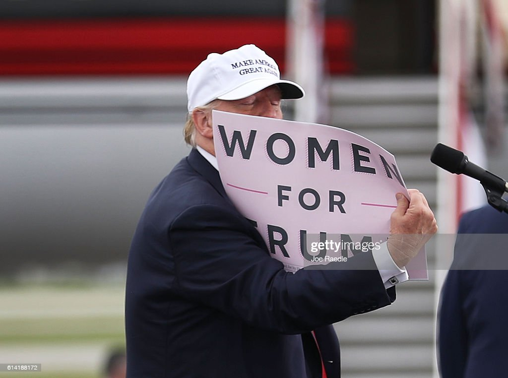 GOP Presidential Nominee Donald Trump Campaigns In Battleground State Of Florida : News Photo