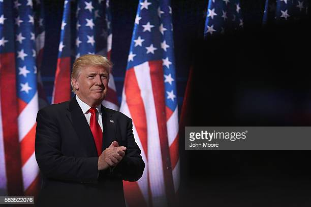 Republican presidential candidate Donald Trump prepares to formally accept his party's nomination on the fourth day of the Republican National...