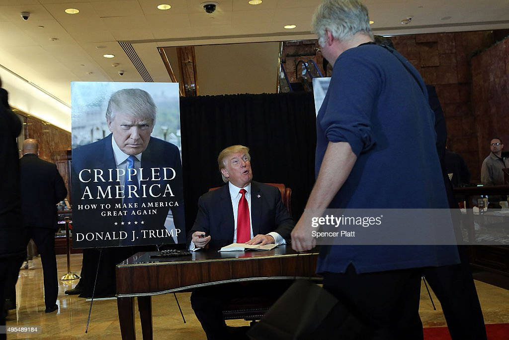"""Donald Trump Holds Press Conference On His New Book """"Crippled America"""" : News Photo"""