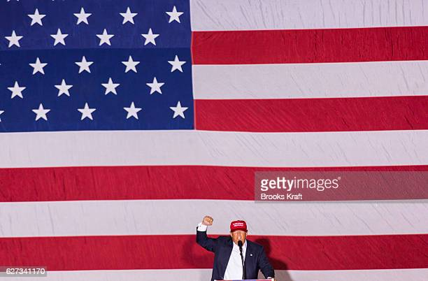 Republican Presidential candidate Donald Trump speaks at a campaign rally March 13 2016 in Boca Raton Florida