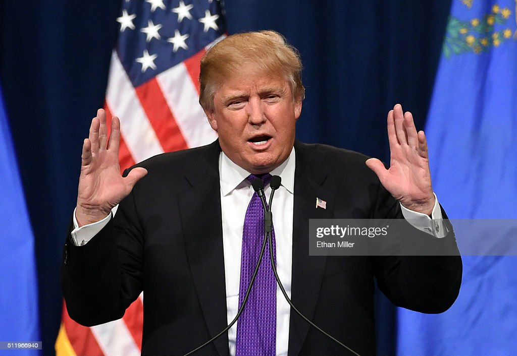 Donald Trump Hosts Nevada Caucus Night Watch Party In Las Vegas : News Photo