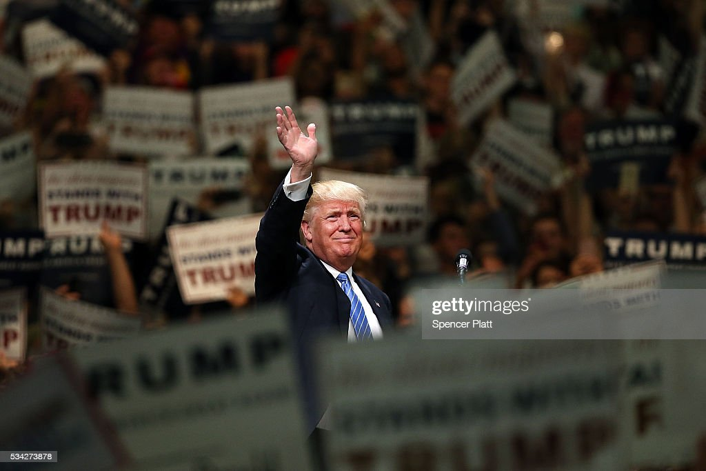 Donald Trump Holds Campaign Rally In Anaheim, CA : News Photo