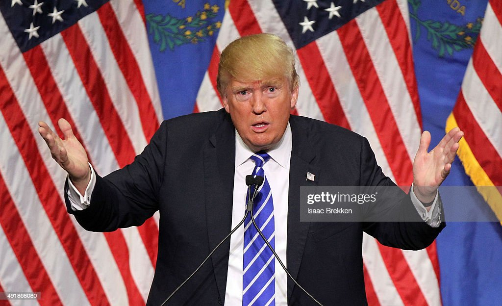 Donald Trump Holds Campaign Rally In Las Vegas : News Photo