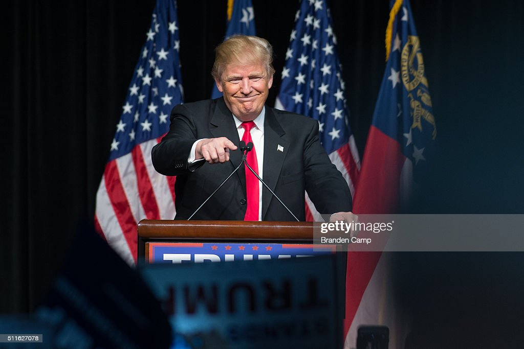 GOP Presidential Candidate Donald Trump Holds Rally In Atlanta, Georgia : News Photo