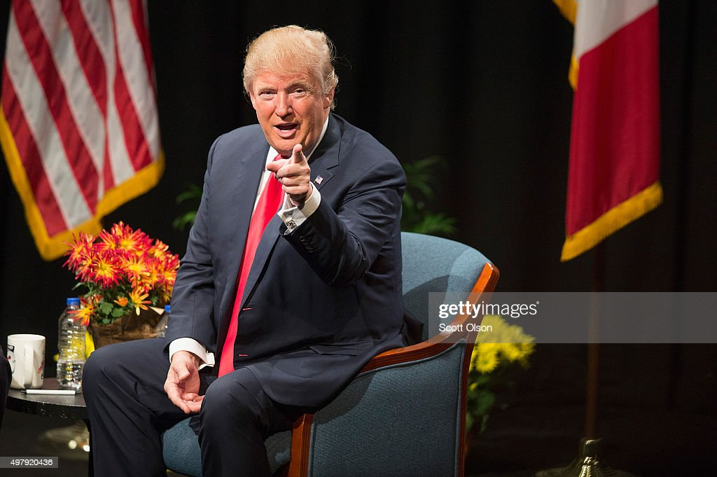 Donald Trump Holds Campaign Town Hall In Iowa : News Photo