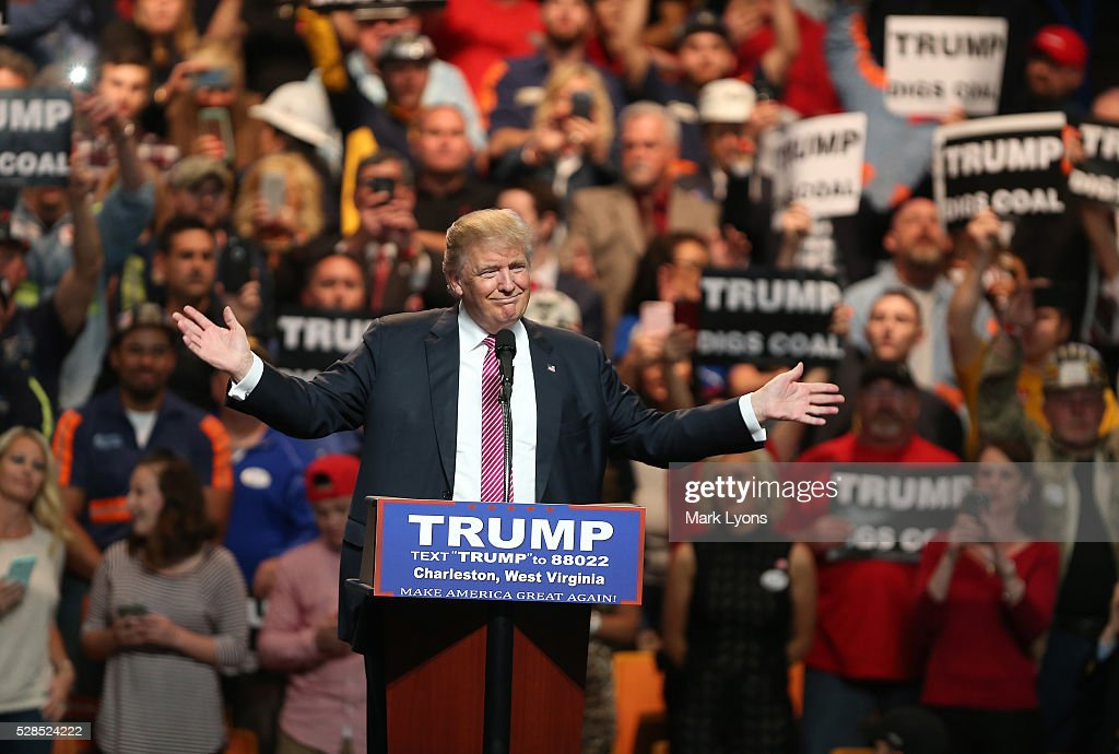 Donald Trump Holds Campaign Rally In Charleston, WV : News Photo