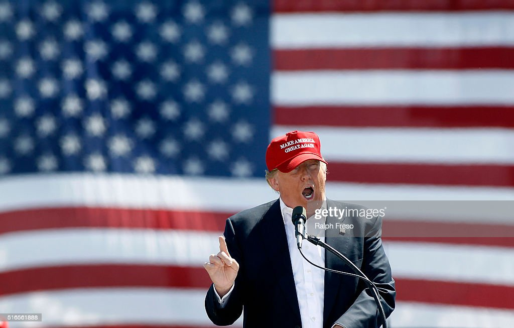 Republican Presidential Candidate Donald Trump Holds Rally In Phoenix : News Photo