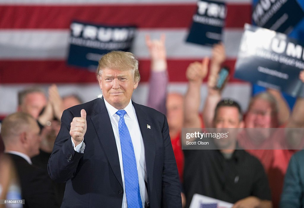 Donald Trump Campaigns In Wisconsin : News Photo